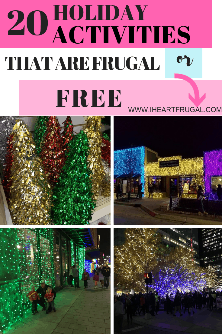 20 Frugal or Free Family Holiday Activities