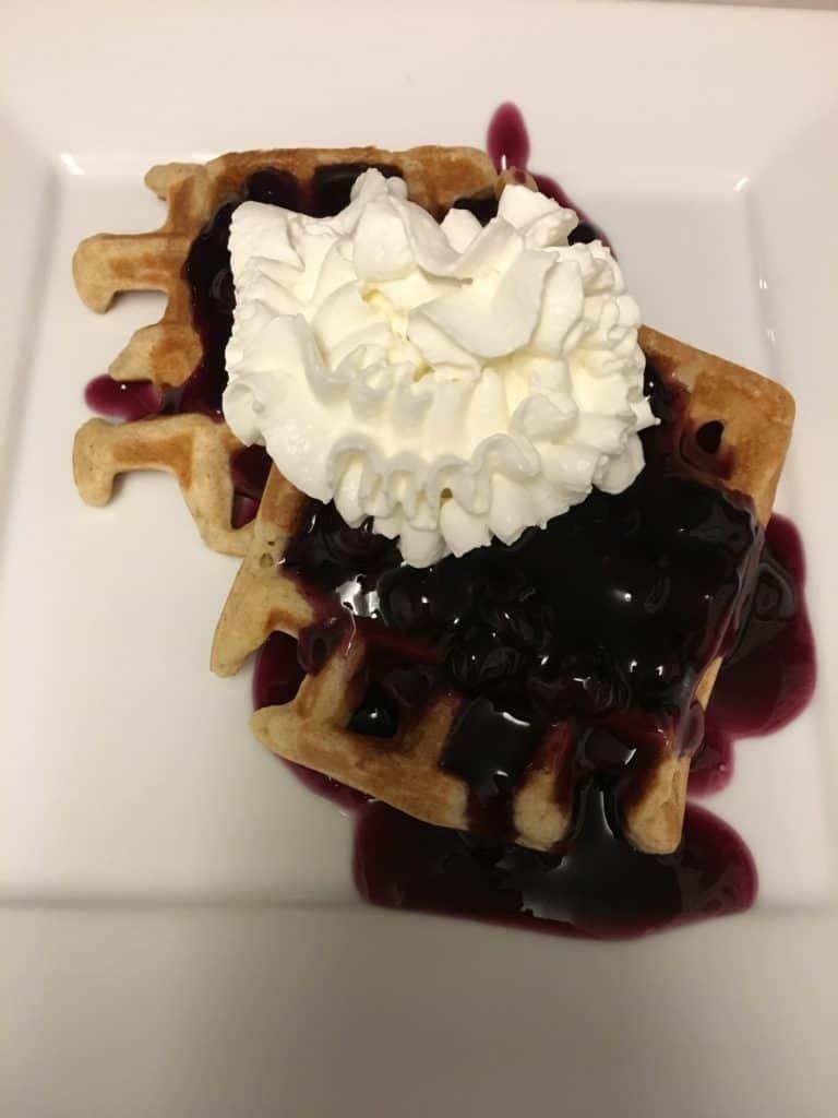 Christmas Brunch Blueberry Waffle #christmasbrunch #christmas2018 #christmas #christmasfood #christmasrecipe