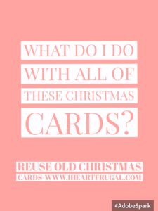 Reuse old Christmas cards