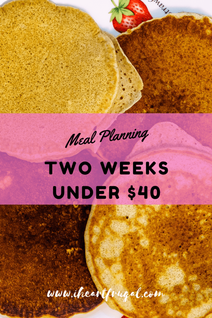 Use my meal plan to save money the next two weeks. Only $40 for two weeks worth of dinners.