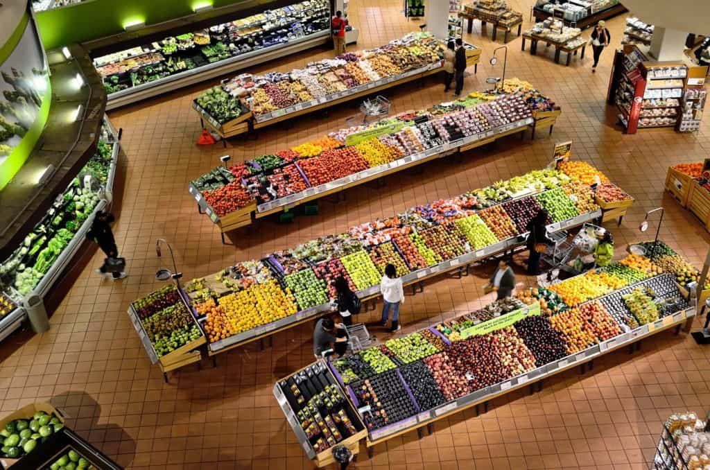 Store placement of groceries
