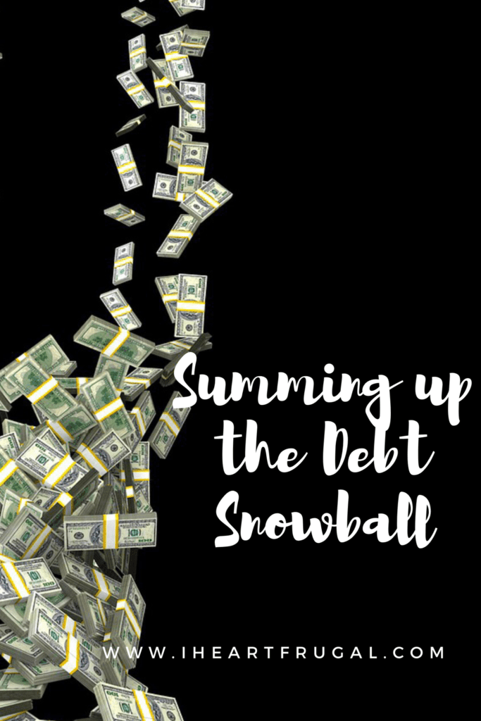 Summing up the Debt Snowball