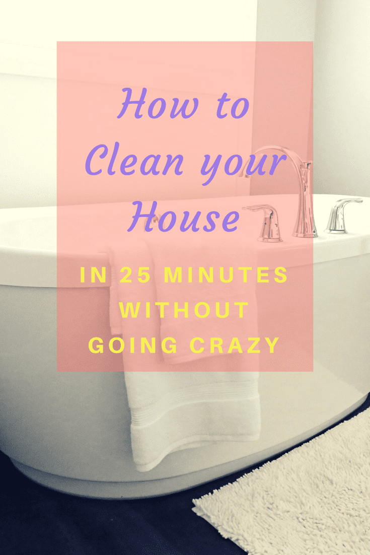 Clean your House in 25 Minutes