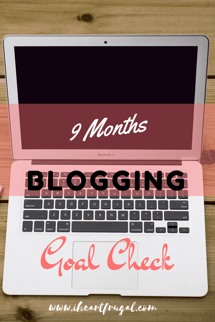 9 Months of Blogging – Goal check
