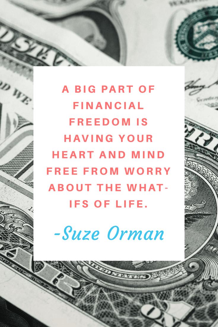 Suze Orman – Money quote