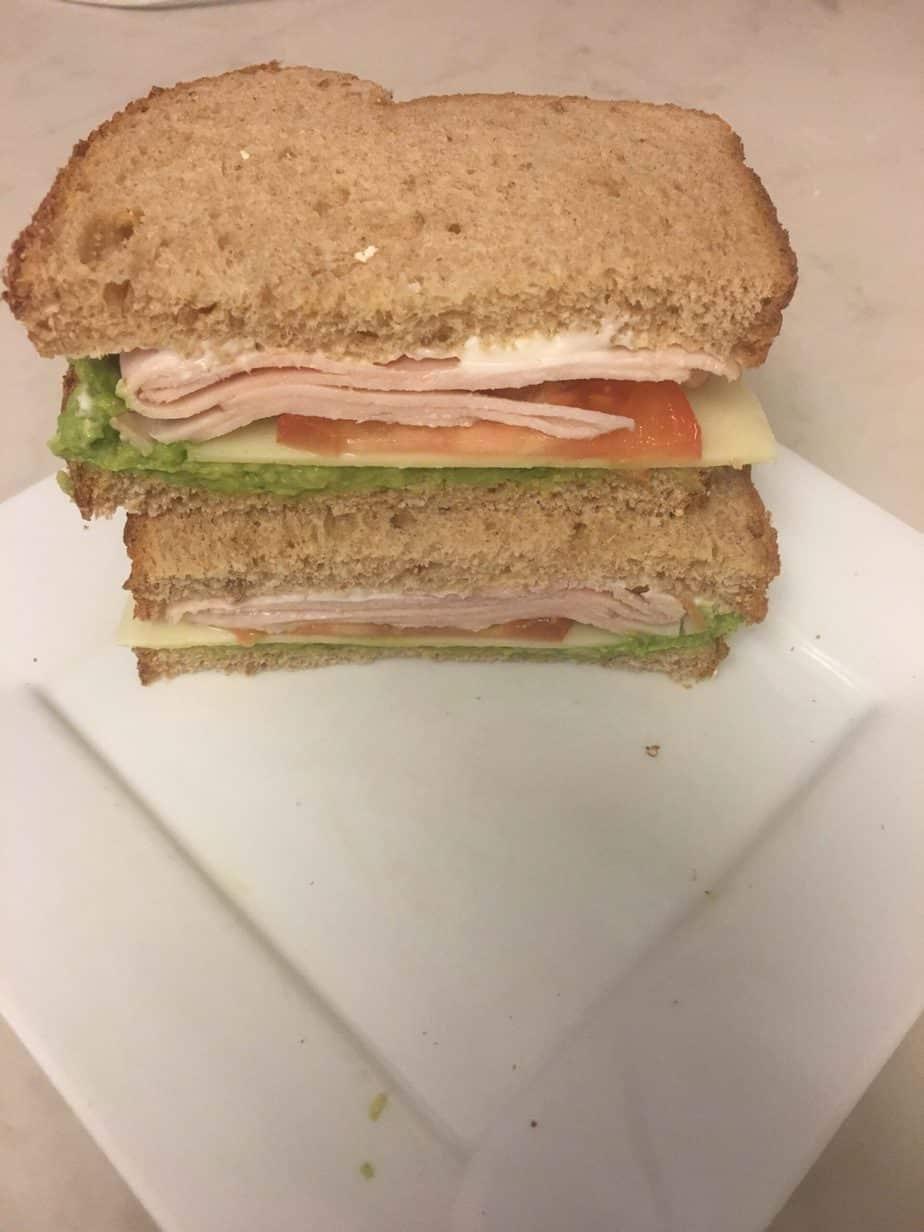 Yummy, Easy Turkey Avacado Sandwich