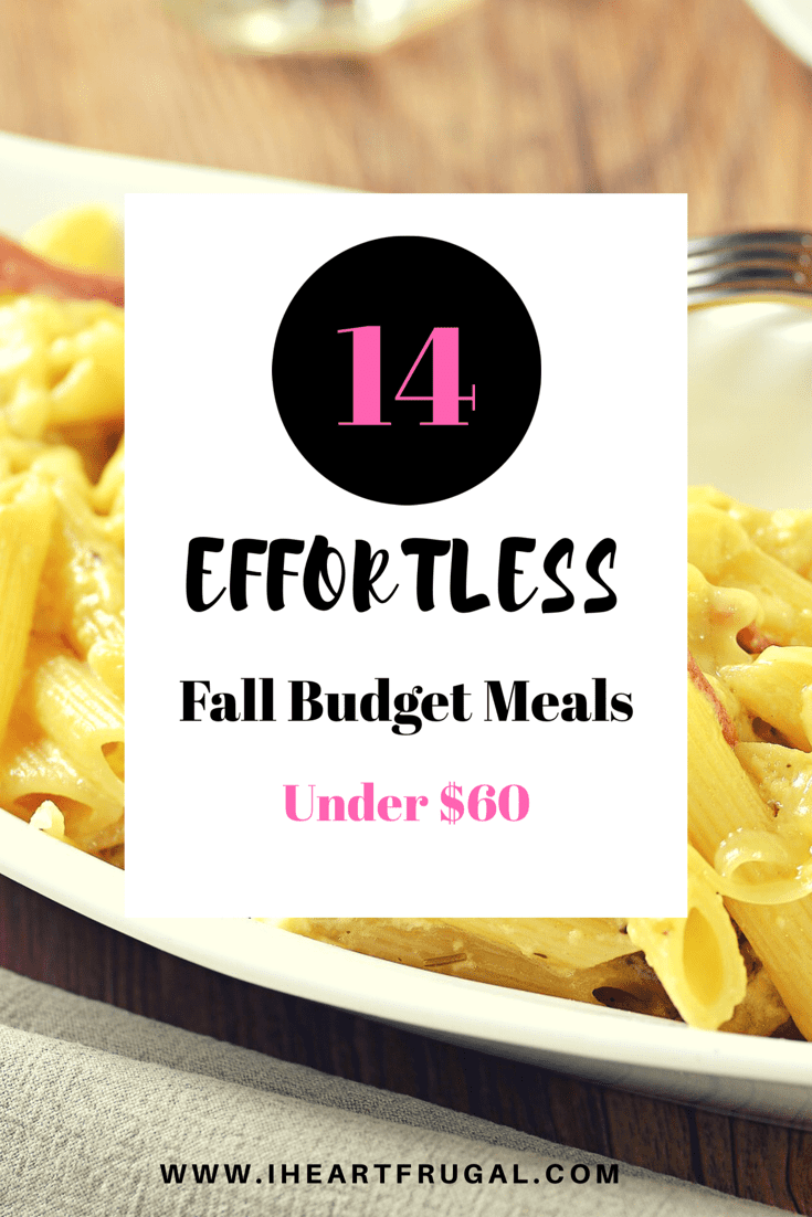 14 Fall Budget Meals