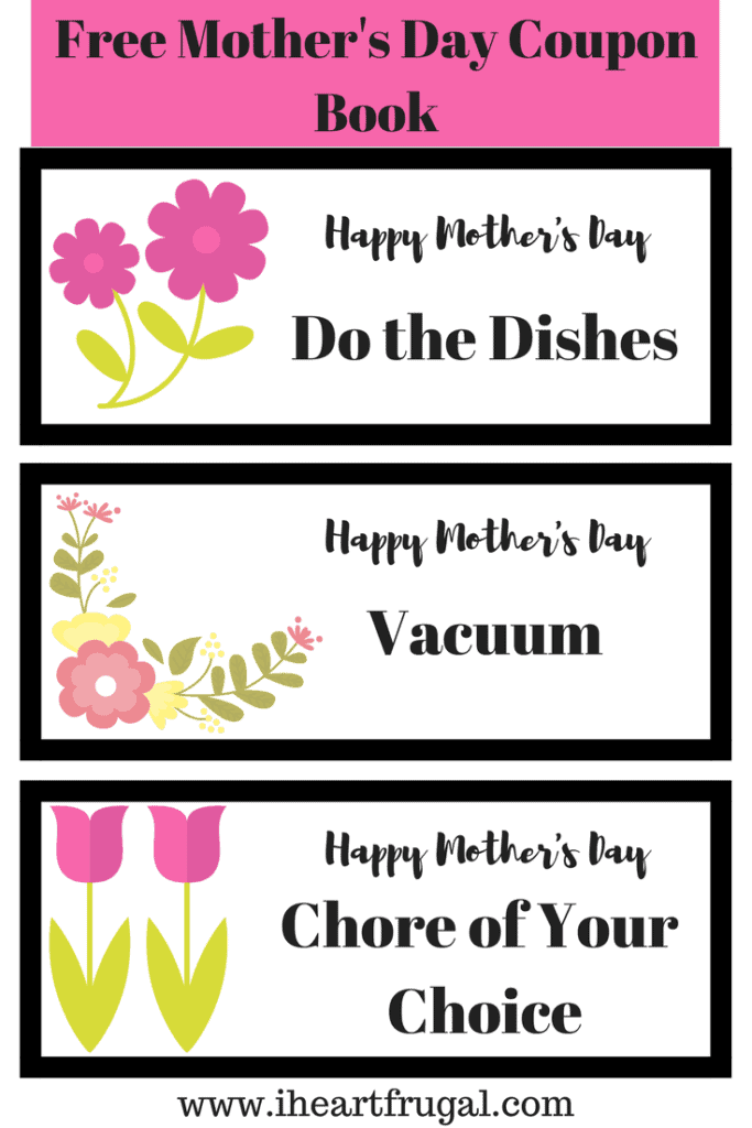 Free Mother's Day Printable Coupon Book