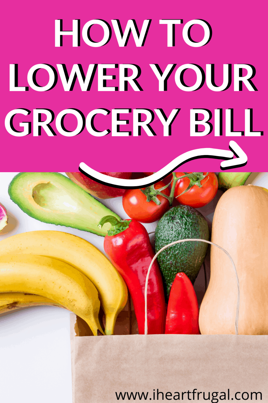 Learn how to How to lower Your Grocery Bill and save money on groceries today. #savemoney