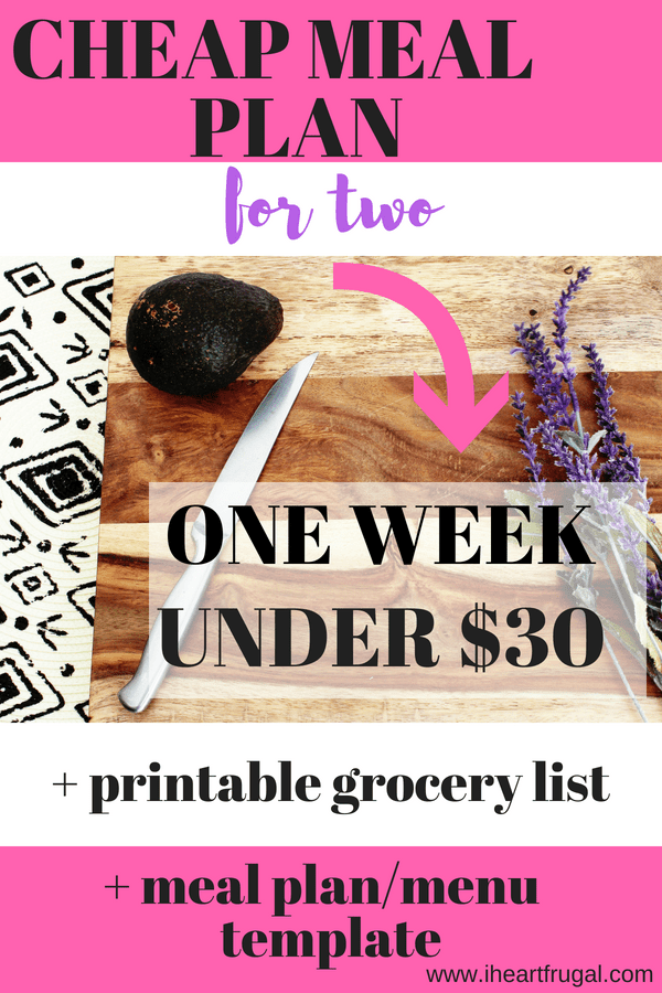 Cheap Meal Plan for Two