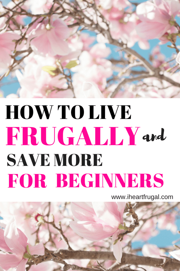 How to Live Frugally for Beginners #frugal #budget #debtfree