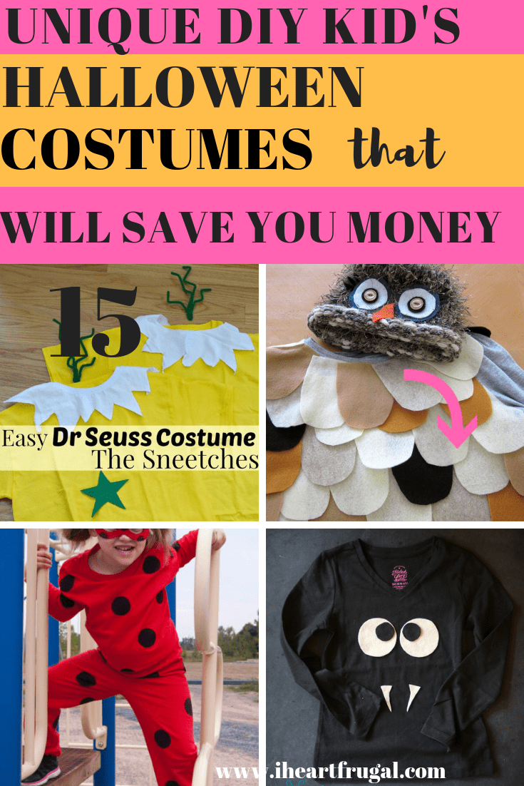 Unique DIY Kid's Costumes That Will Save You Money
