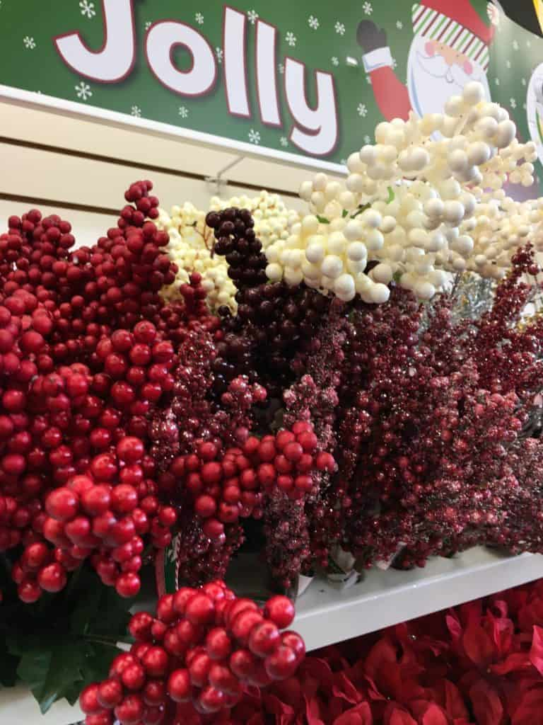 Dollar Store Christmas Decorating Ideas - Berries