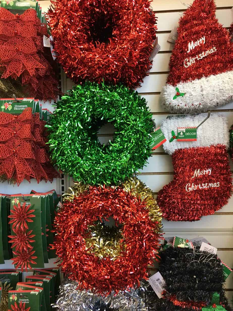 Dollar Store Christmas Decorating Ideas- Wreaths
