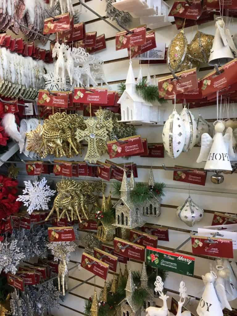 Dollar Store Christmas Decorating Ideas- Various Tree Ornaments