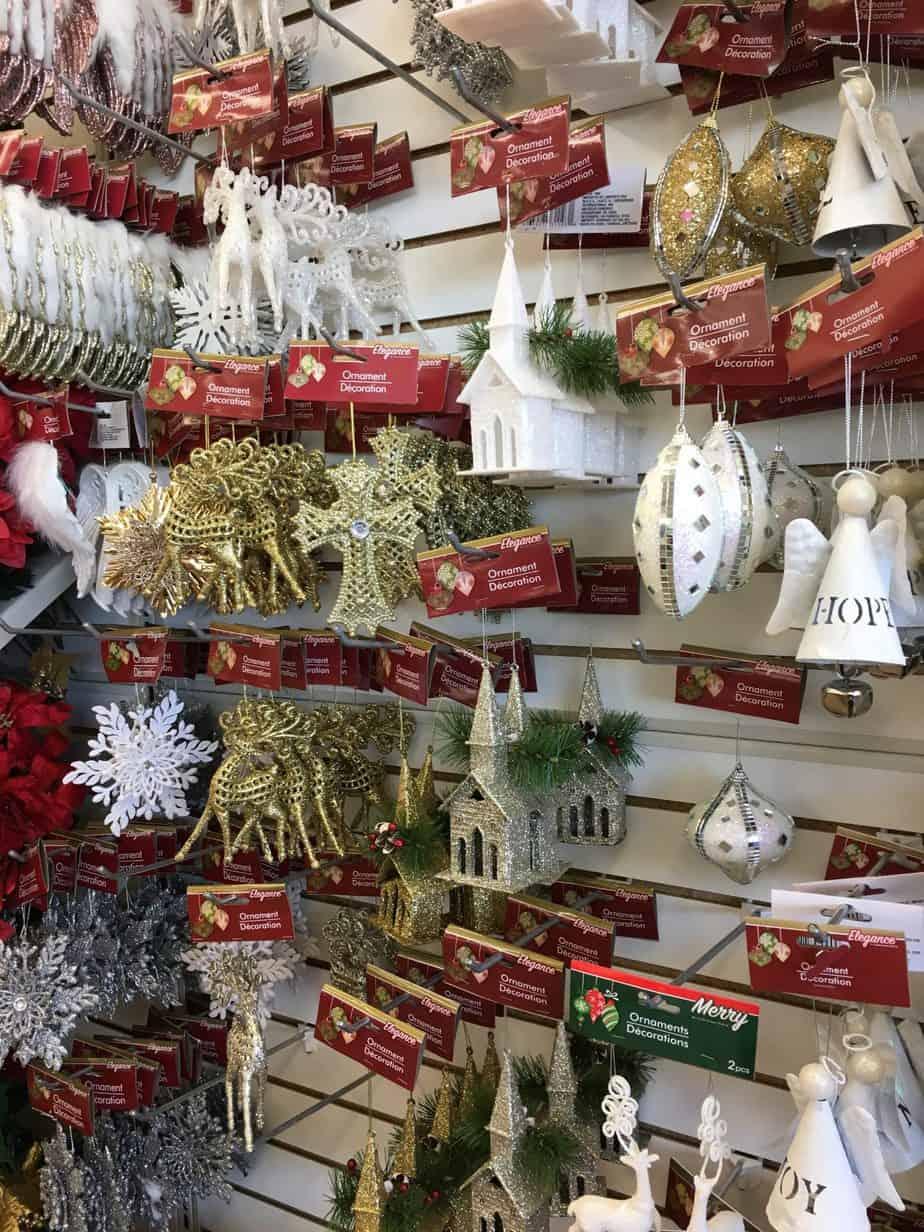 Dollar Store Christmas Decorating Ideas- Various Tree Ornaments