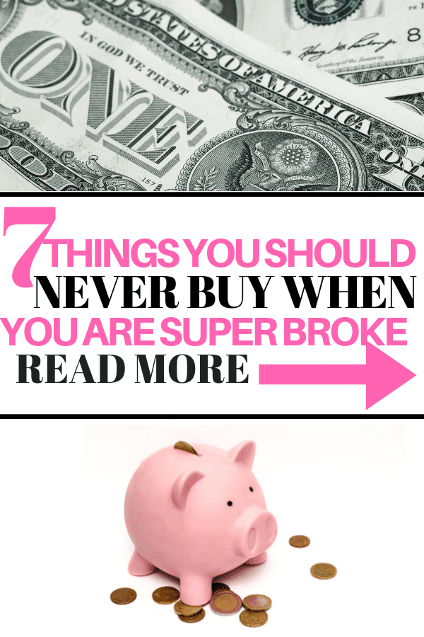 Broke & Living Paycheck to Paycheck? Stop Buying These Things #savemoney #budget #frugalliving