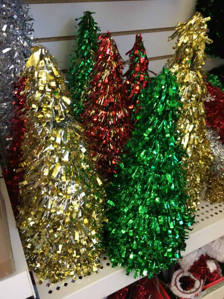 Dollar Store Christmas Decorating Ideas- Small Christmas Trees