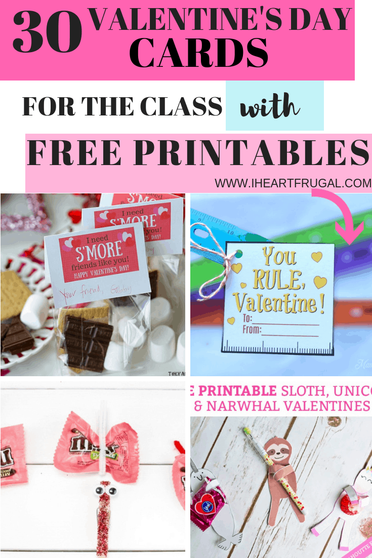 Valentine's Day Cards With Free Printables for Kids
