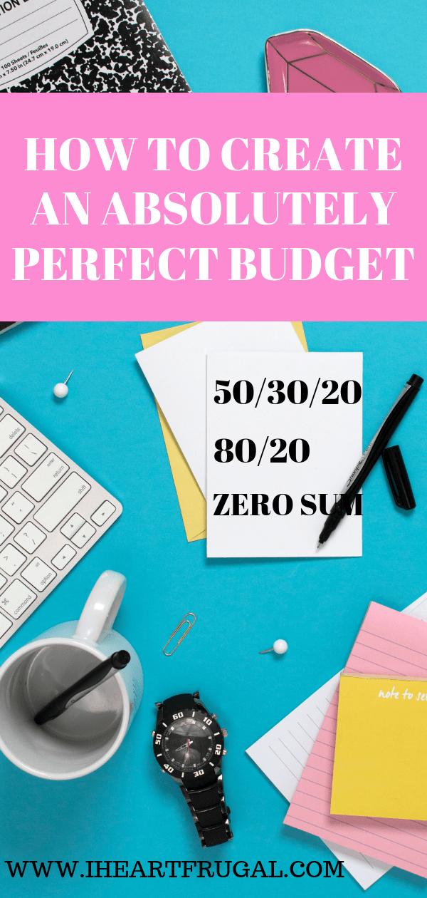 Create an easy budget