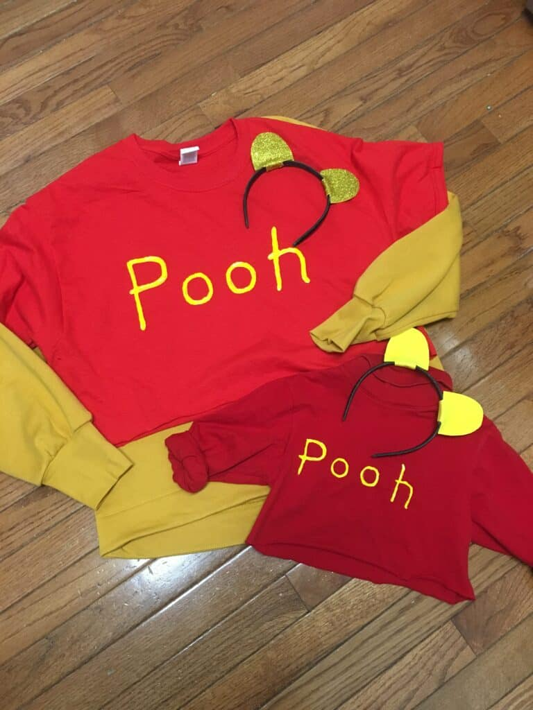 Last Minute DIY Halloween Costume- Winnie the Pooh - Are you searching for an easy DIY Halloween costume idea? Check out this costume tutorial for a DIY Winnie the Pooh costume. #Halloween #DIYcostume #cheapcostumeidea