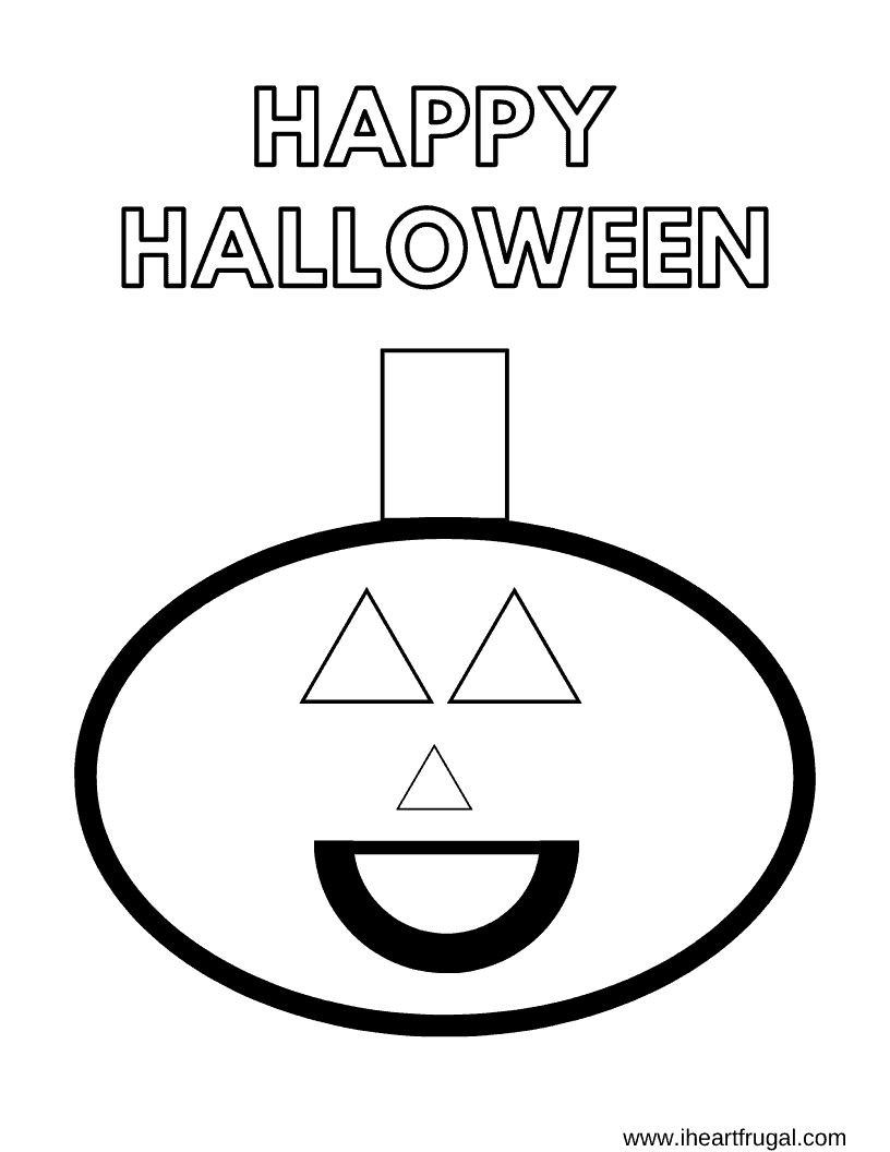 Happy Halloween – Shapes Coloring