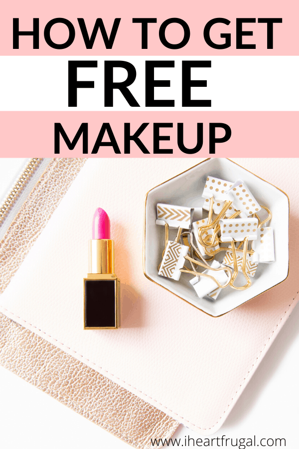 How to Get Free Makeup with these tips. Getting free makeup and free makeup samples is not as hard as it sounds. #freebie #free #makeup #deals
