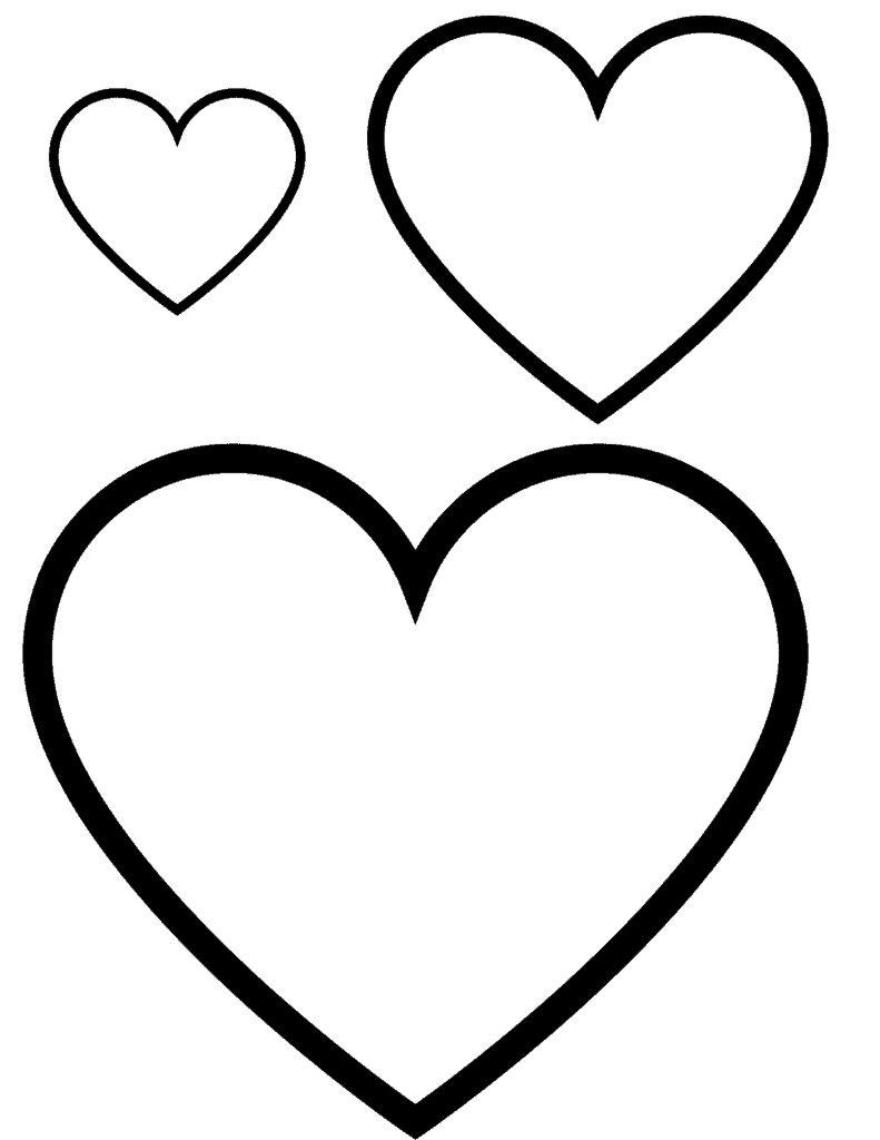 Free printable heart templates for Valentines Day #Valentinesday #heartprintables #freeprintables