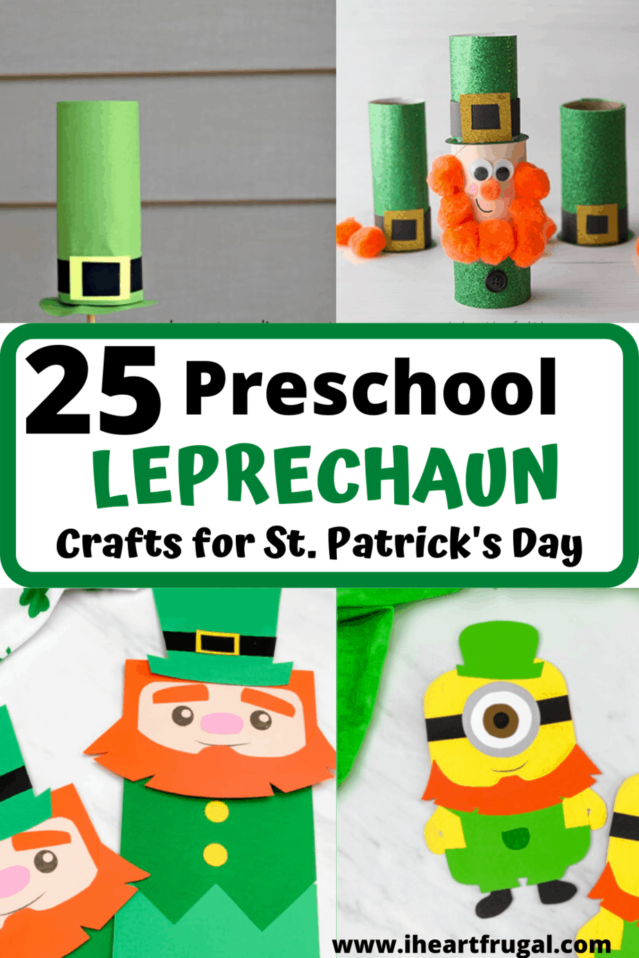 Leprechaun Crafts for Preschool or any age. Kids craft idea. St. Patrick's Day Craft idea #craftsfrokids #stpatricksday #leprechauncrafts