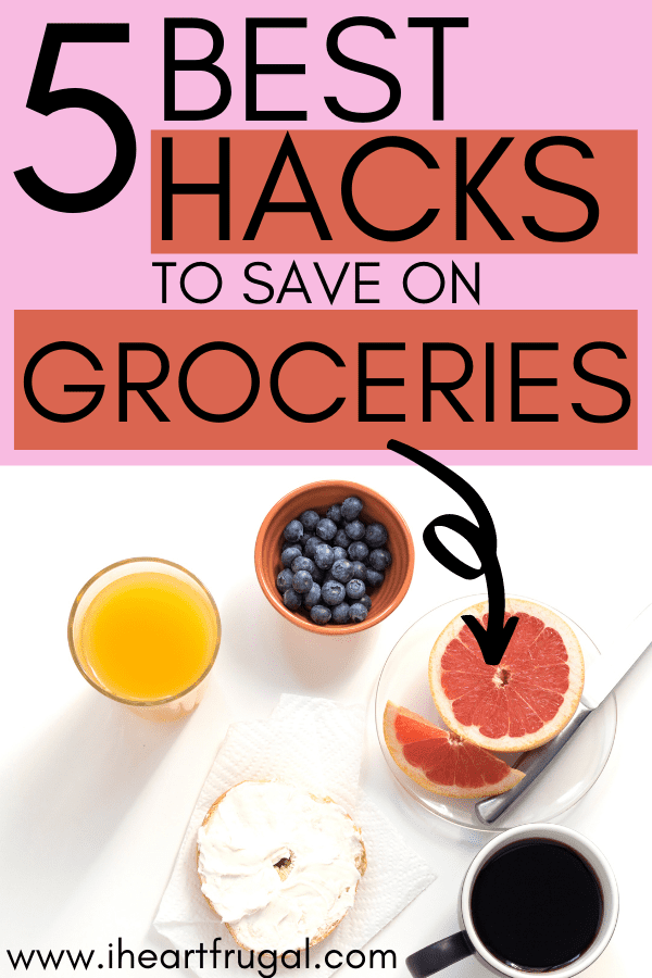 5 Best Hacks to save on groceries. Learn how to use these money-saving life-hacks to save on your grocery bill.