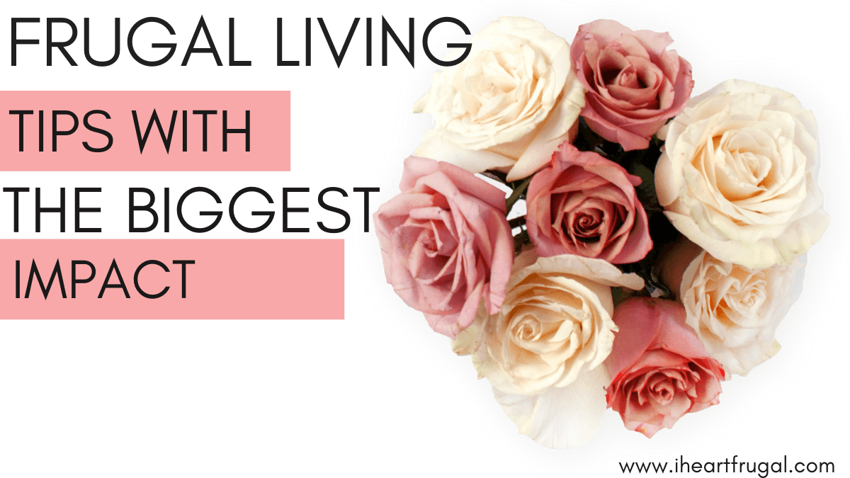 Are you ready to change your financial life? Then try these 10 frugal living tips with the biggest impact. Start living below your means and saving today.