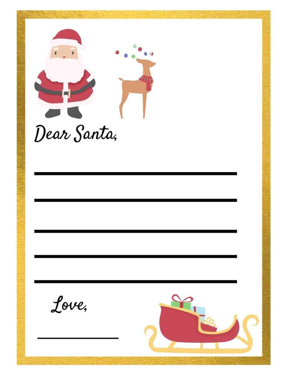 Free Santa Letter Printable Template