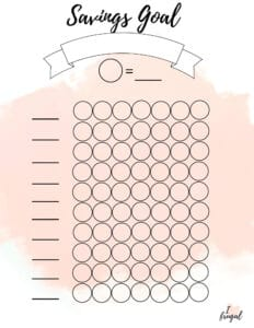 Savings Goal Tracker - Start Tracking your savings so you can reach your savings goals today. Use these pretty savings tracker to help you save money.