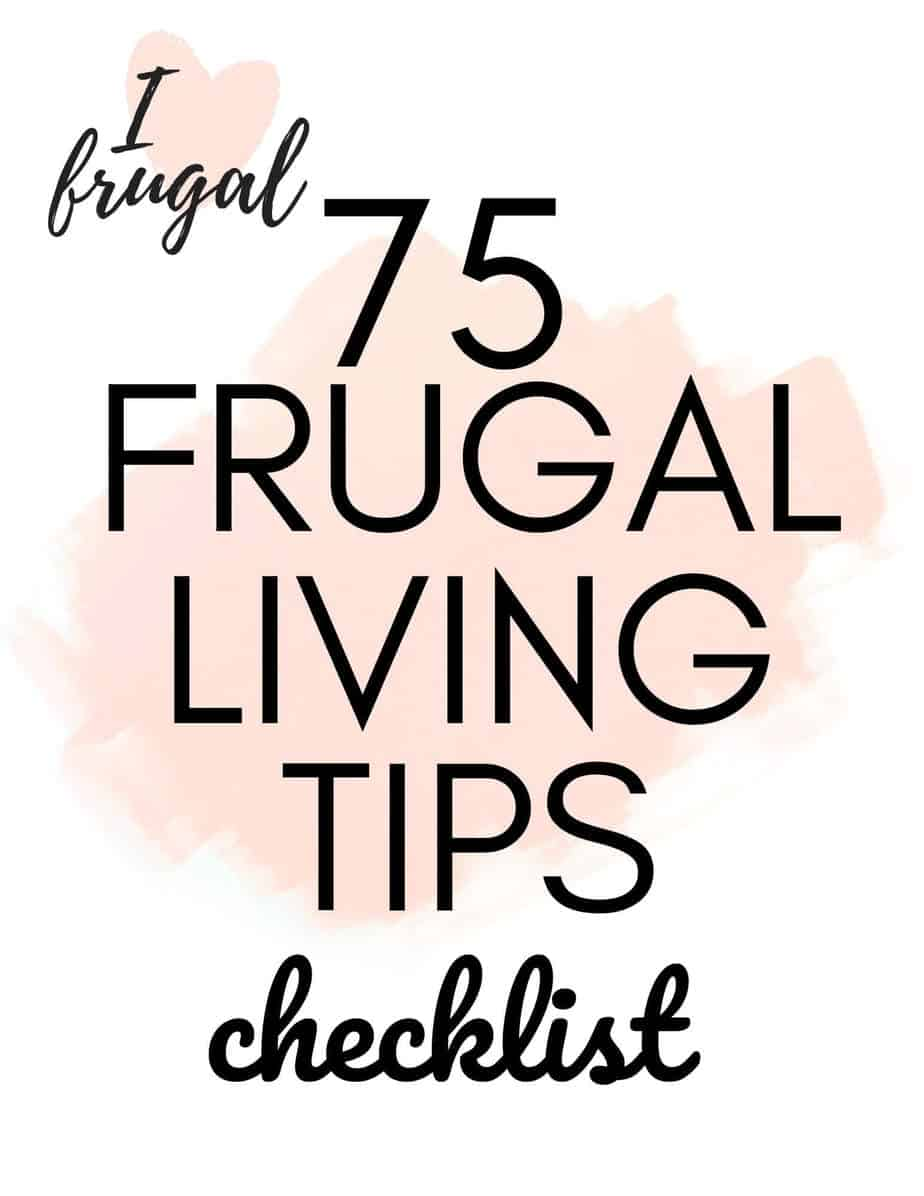 75 Frugal Living Tips Checklist (1)