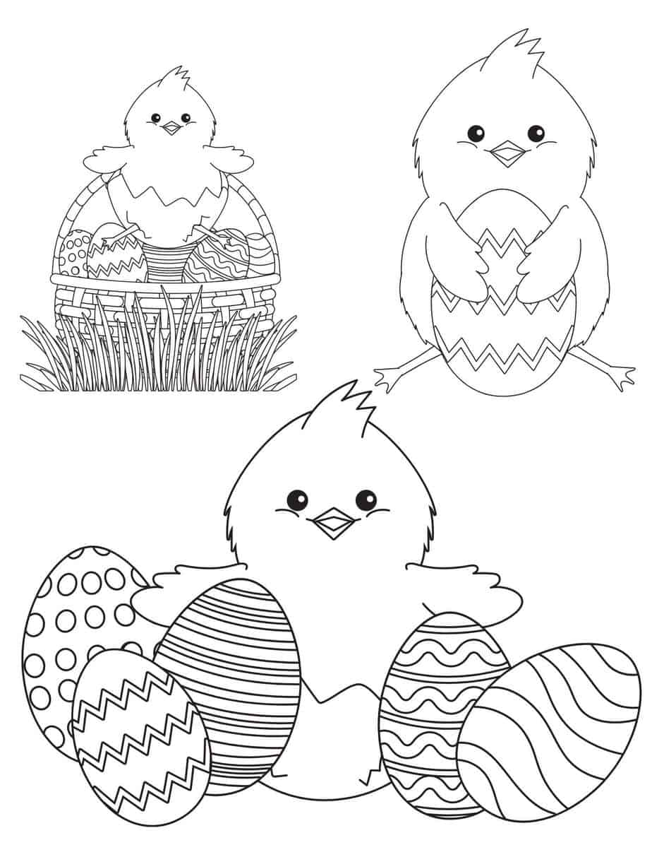 Chicks Coloring Sheet/Page