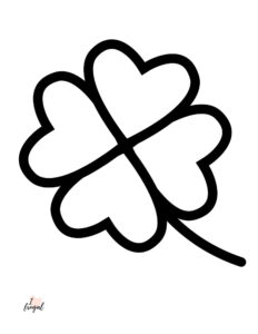 Four Leaf Clover Free Printable Coloring Sheet