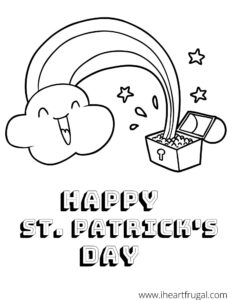 Happy St. Patrick's Day Rainbow Coloring Sheet