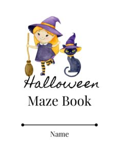 Halloween Maze Book