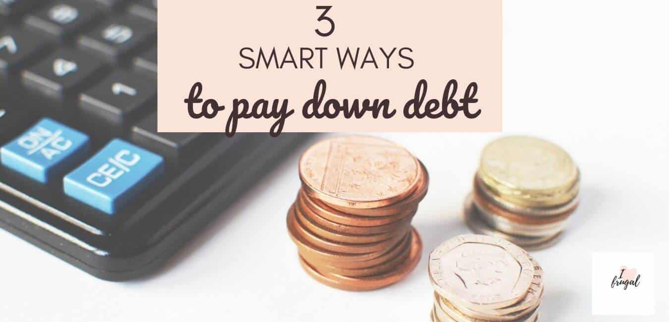 3 Smart Ways to Pay Down Debt - Calculator and coins, learn how to pay down debt and save money with these three tips to pay off and stay out of debt